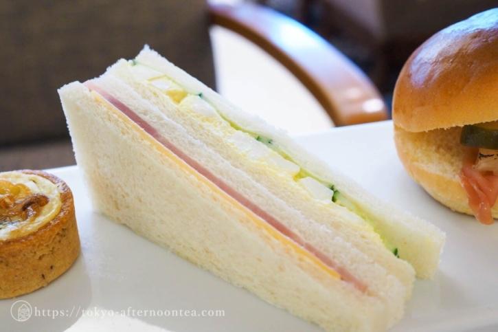エッグサラダサンドウィッチ(ロイヤルパークホテルのトロピカルアフタヌーンティー)
