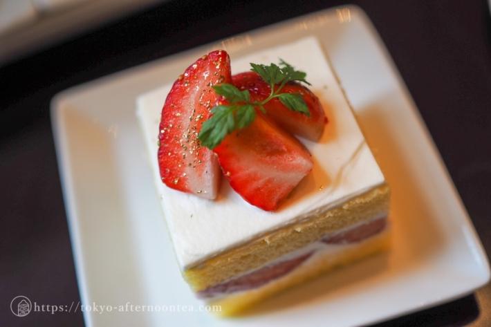 東京ステーションホテルの2020年冬のアフタヌーンティー あまおうのショートケーキ