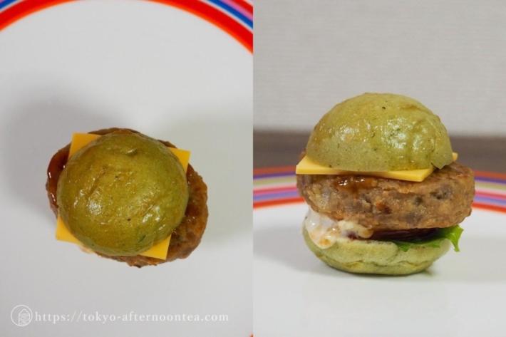 よもぎパンのミニバーガー(インターコンチネンタル東京ベイのテイクアウトアフタヌーンティー)