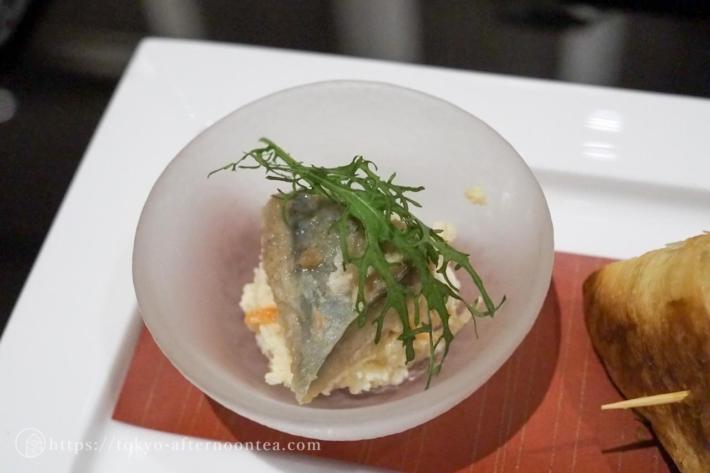 鯵のエスカベッシュとおからサラダ(インターコンチネンタル東京ベイのグリーンボタニカルアフタヌーンティー)