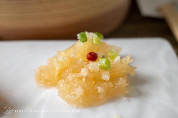 クラゲの冷製(中国料理 礼華 四君子草のアフタヌーンティー)