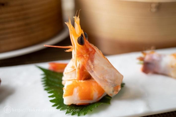 えびの酒漬け(中国料理 礼華 四君子草のアフタヌーンティー)