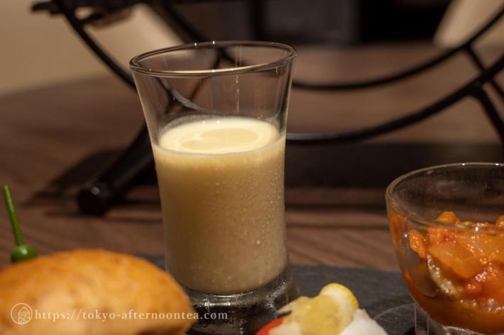 冷製コーンスープ(雅叙園のカナデテラスサマーアフタヌーンティー)
