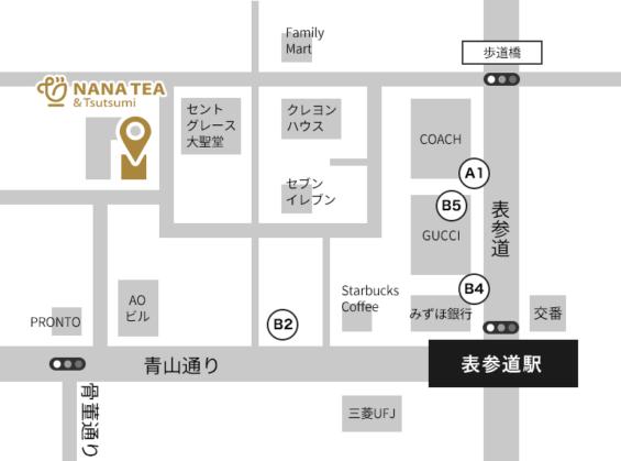 「NANATEA&Tsutsumi」の地図