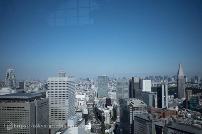 パークハイアット東京 ピークラウンジから外を見たところ