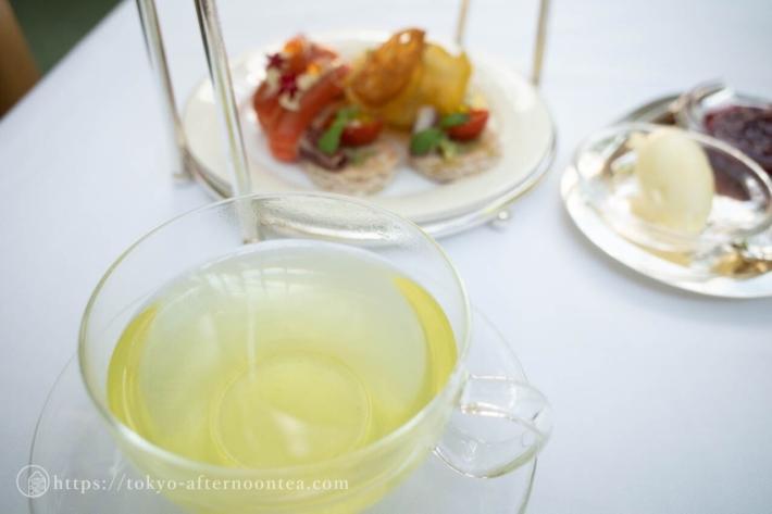 かぶせ緑茶(パークハイアット東京のハリー・ウィンストンアフタヌーンティー)