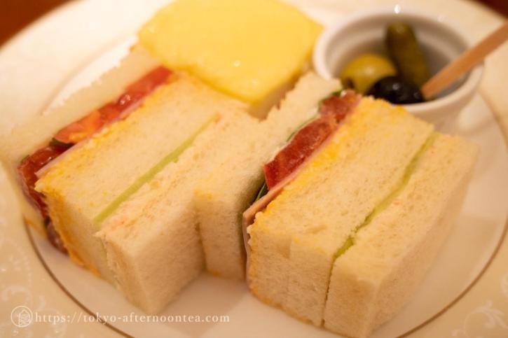 サンドイッチ(ロイヤルクリスタルカフェのハイティーセット)