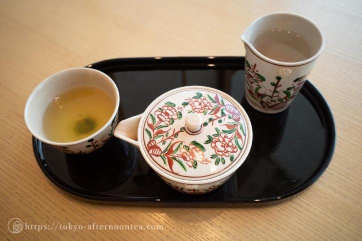 煎茶 「つじり八十八夜」(たん熊北店アフタヌーンティー)