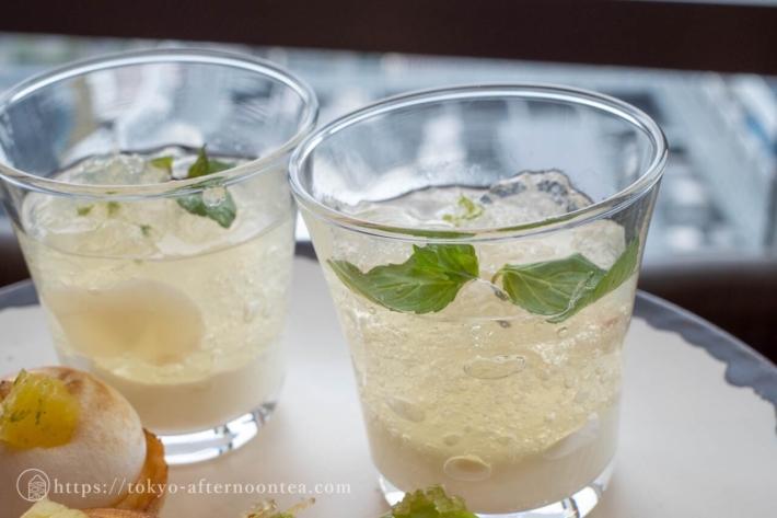 ライチのコンポート レモングラスのジュレ(アンダーズ東京ホテル レモングラスアフタヌーンティー)