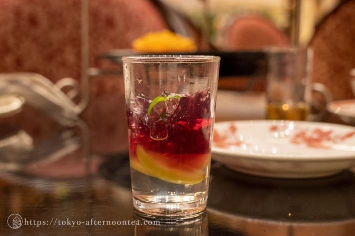 白ワインとぶどうゼリー(第一ホテル東京 秋のアフタヌーンティーセット)