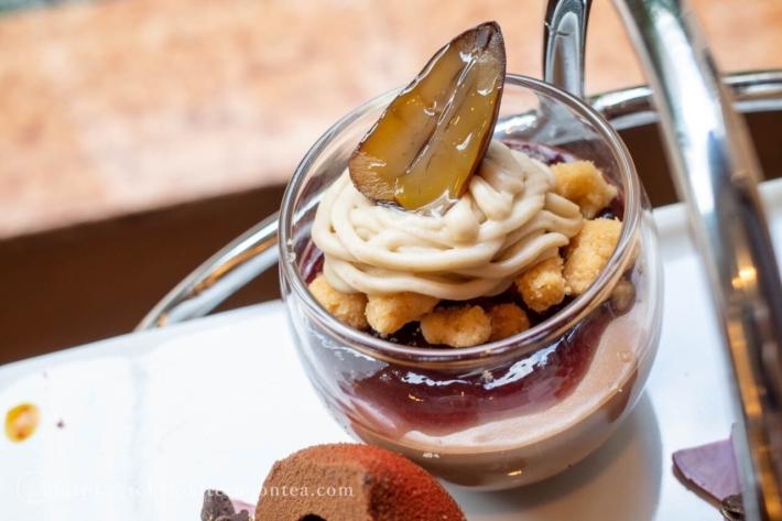 チョコレート細工菓子 グラスデザート(マロンとチョコレート)(ロイヤルパークホテルのマロンアフタヌーンティー)