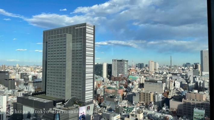 新宿プリンスホテル「風雅」からの景色