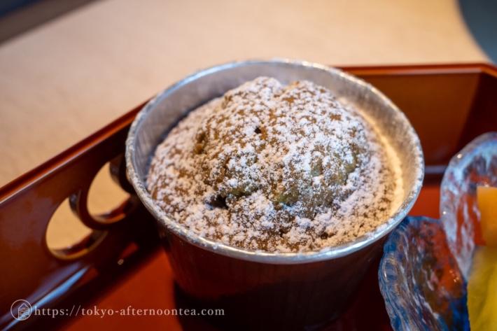お茶のマフィン(新宿プリンスホテル「風雅」の伊右衛門コラボアフタヌーンティー)