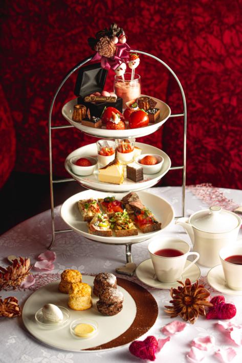ステラートのバレンタイン期間限定苺とショコラのアフタヌーンティーセット