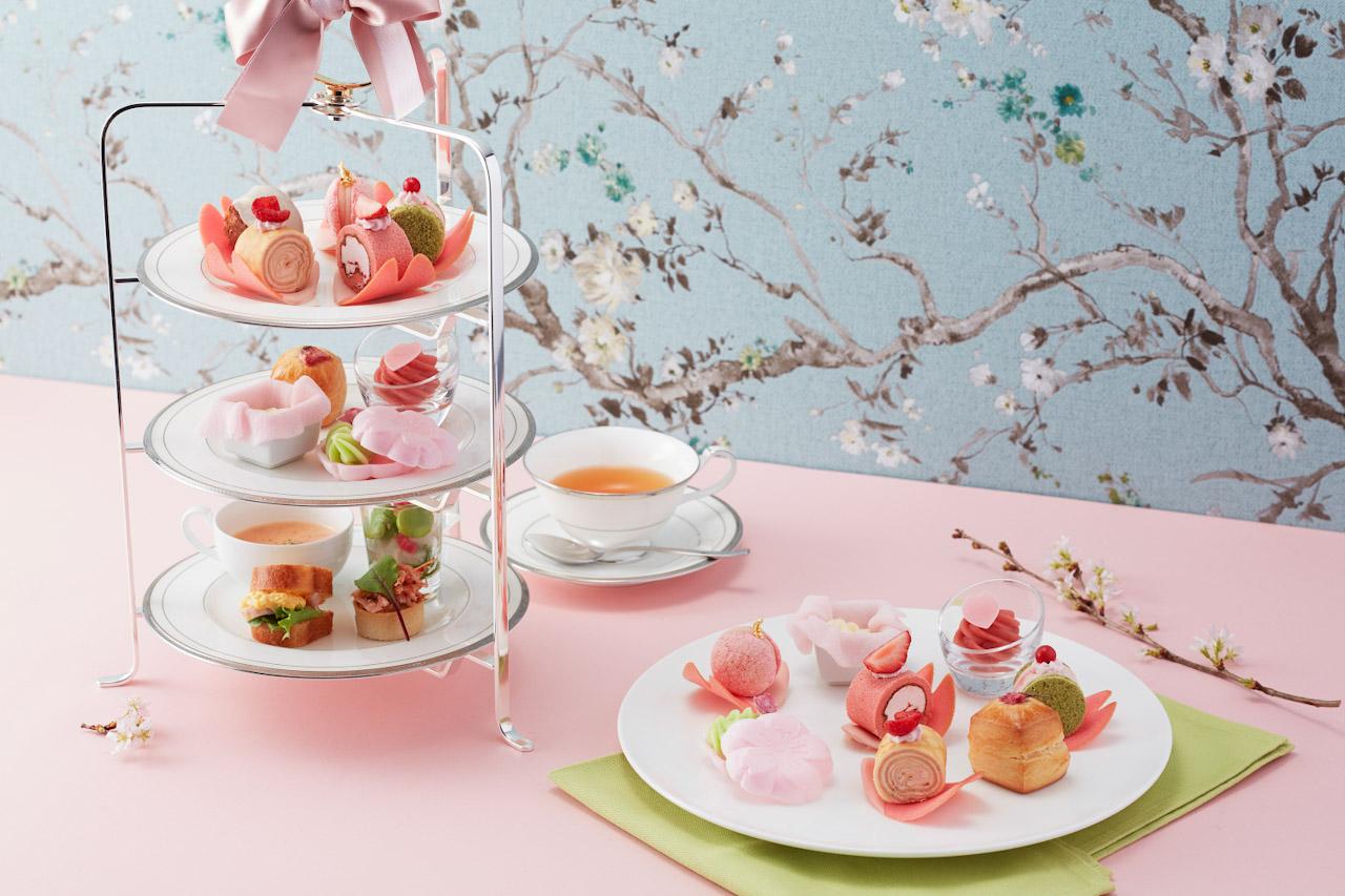 グランドニッコー東京台場の桜ピンクアフタヌーンティーセット