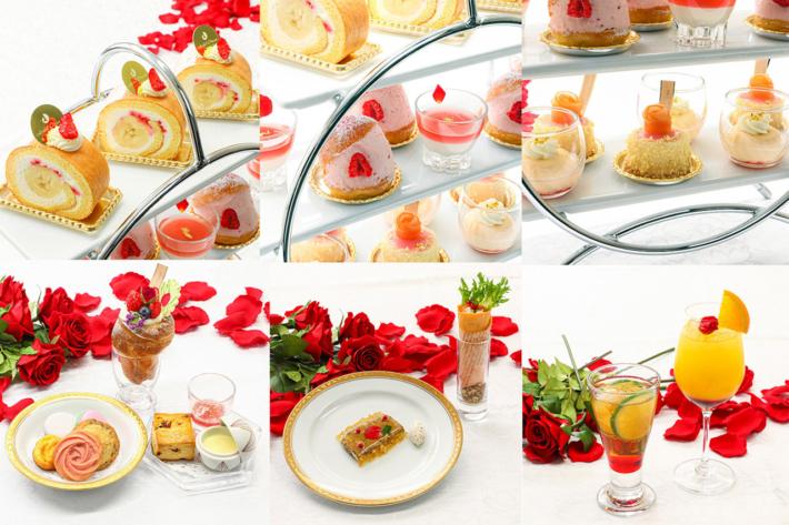 ホテルオークラ東京ベイのアフタヌーンティー「Saison des roses ~セゾン・デ・ローズ~」