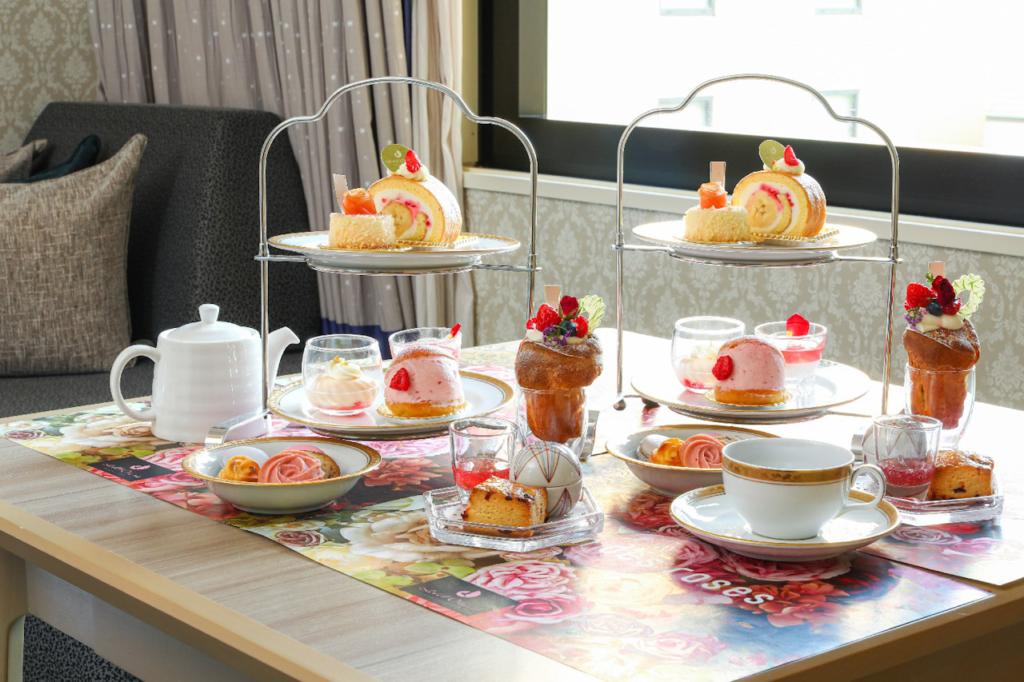ホテルオークラ東京ベイのアフタヌーンティーセットとバラのアメニティー付き宿泊プラン