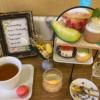 横浜スパゲティ&カフェの旬の桃とメロンたっぷりのアフタヌーンティーセット