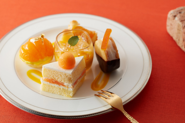 グランドニッコー東京台場のマリーゴールドオレンジ アフタヌーンティーセット